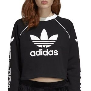 Women's ADIDAS Originals Cropped Sweatshirt Black
